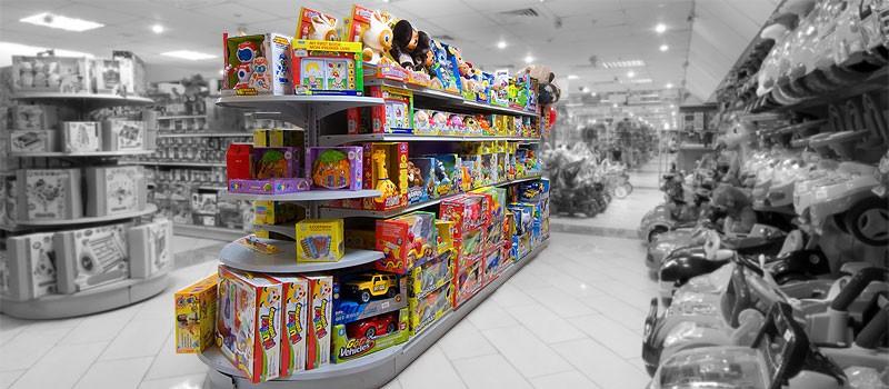 Торговое оборудование для магазинов детских товаров