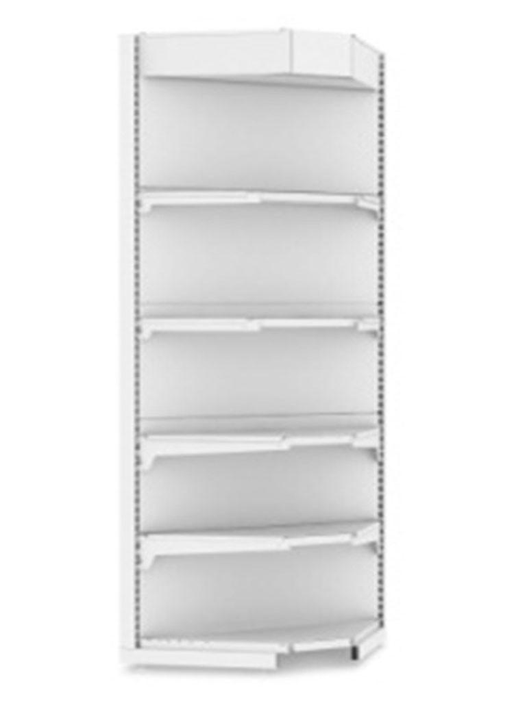 Стеллаж торговый EcoLine угловой внутренний с подсветкой