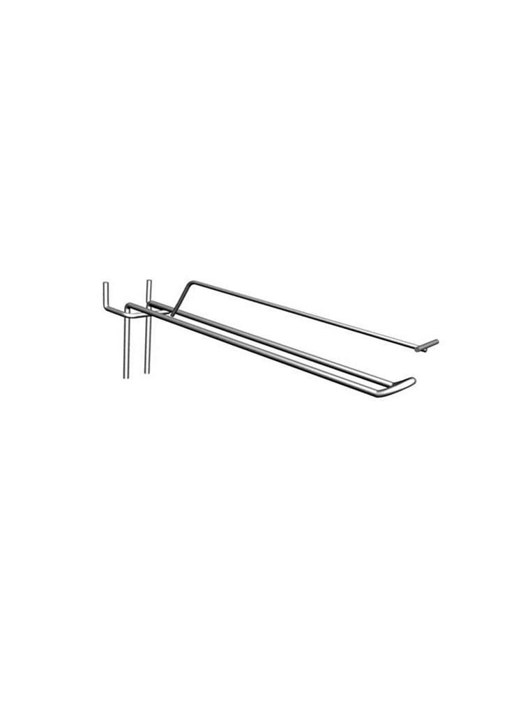 Крючок торговый на перфорацию, двойной с ценникодержателем (150/4,0/50)