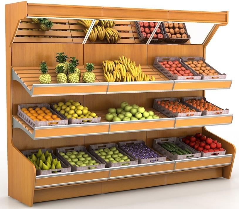 Стеллаж торговый Stahler овощной (470X1000X2300)