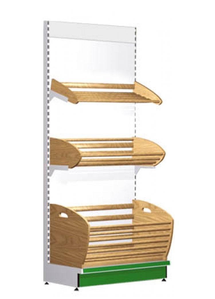 Стеллаж торговый Русь, хлебный с коробом (500x1000x2200)