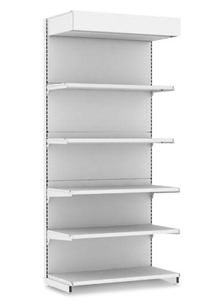 Стеллаж торговый EcoLine пристенный с подсветкой (470х1000х2250)